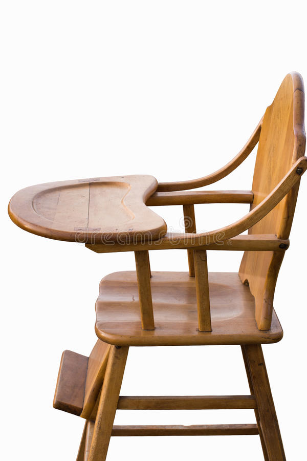 木高脚椅子白色背景 库存照片