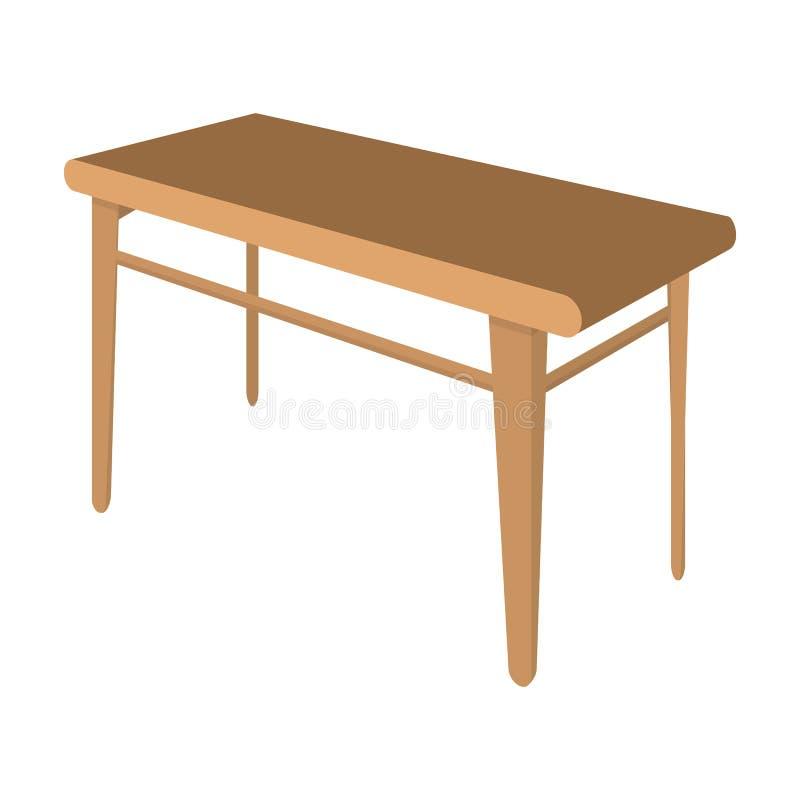 木,餐桌 家具和内部唯一象在动画片称呼等量传染媒介标志股票例证网 皇族释放例证