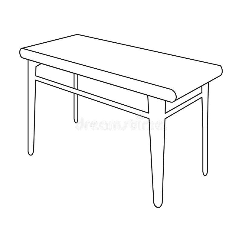 木,餐桌 家具和内部在等量传染媒介标志库存例证网 皇族释放例证