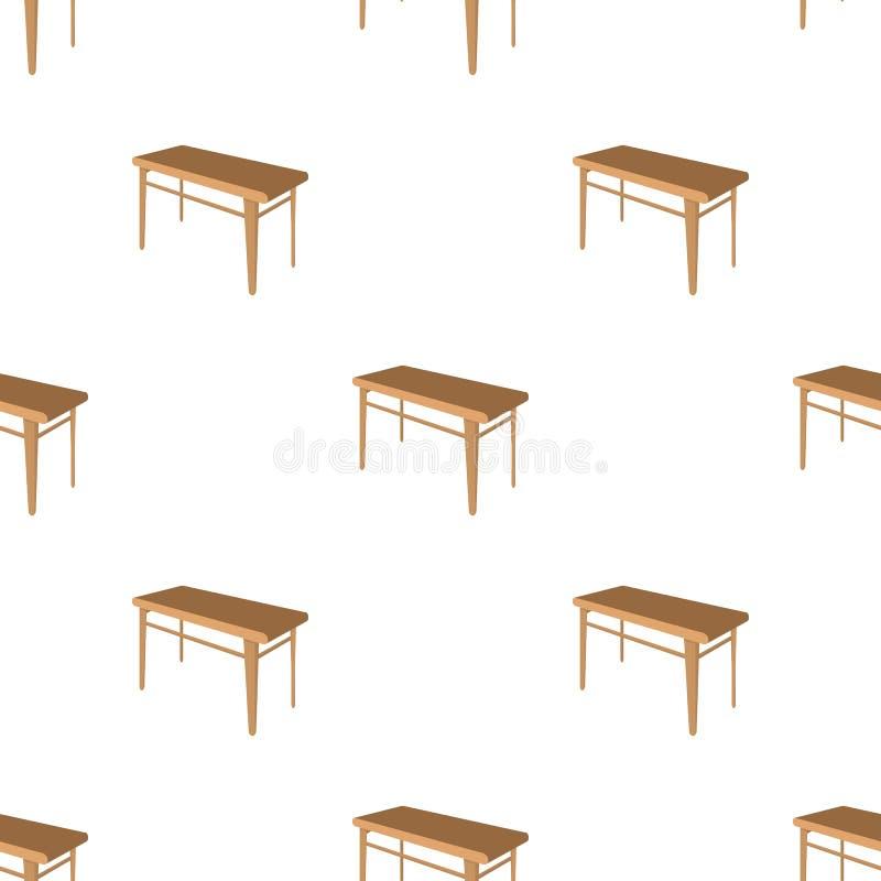 木,餐桌 库存例证