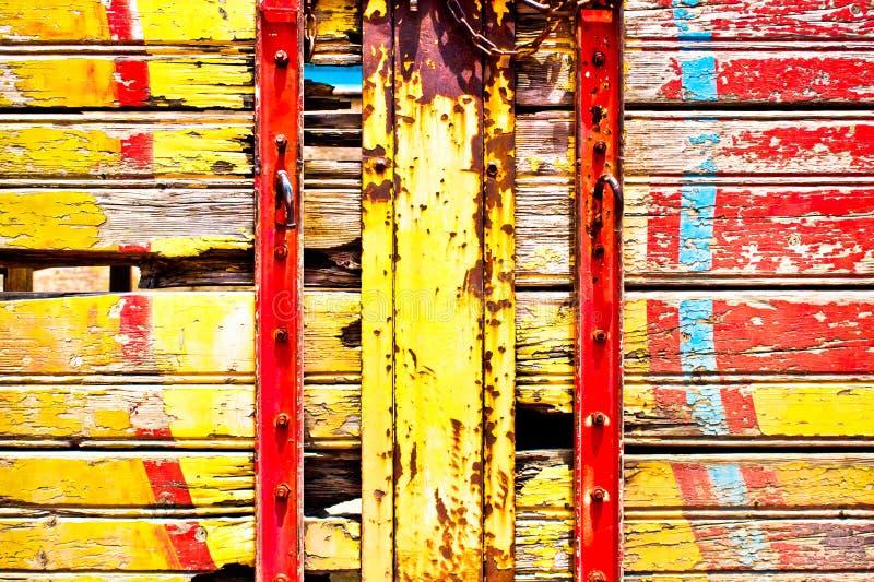 木头和金属 库存照片