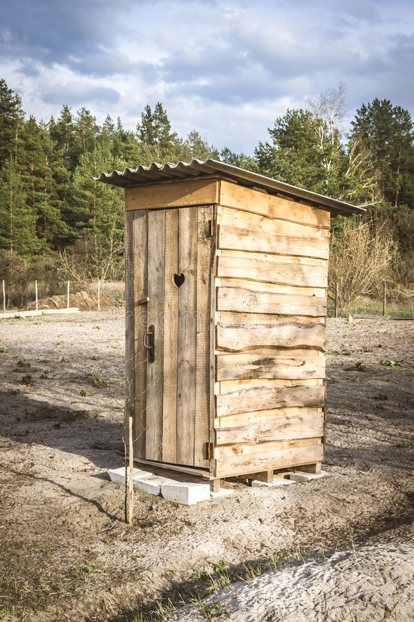木洗手间 免版税库存照片
