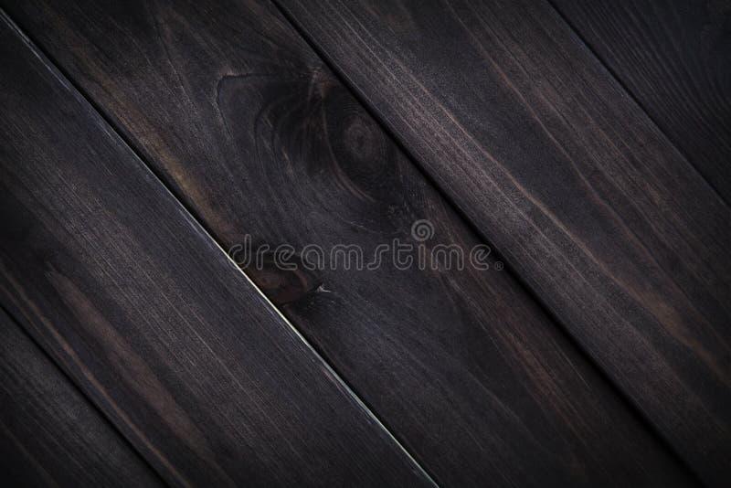木黑暗的纹理 背景棕色老木板条 免版税库存图片