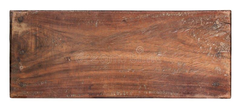 木头老板条在白色背景的 库存照片