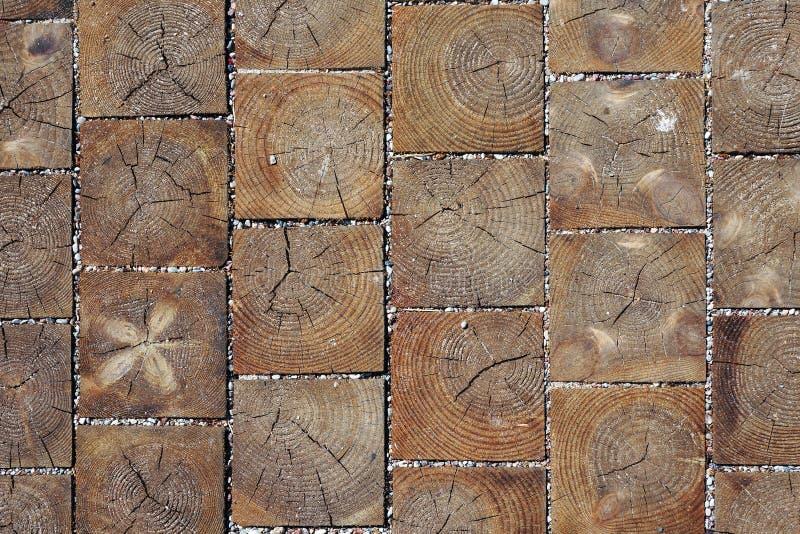 木刻路面纹理 库存图片