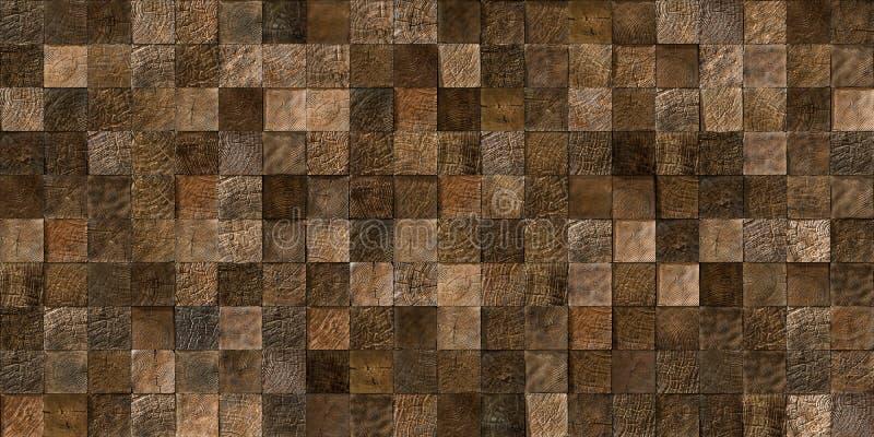 木头铺磁砖无缝的纹理 免版税库存图片