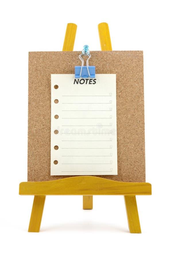 木corkboard附注固定的立场 库存照片