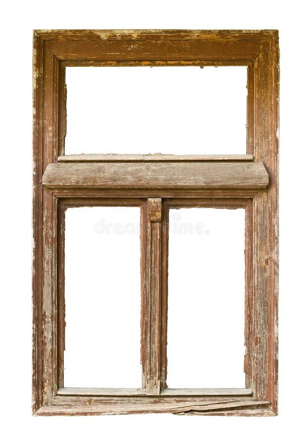 木grunged的视窗 库存照片