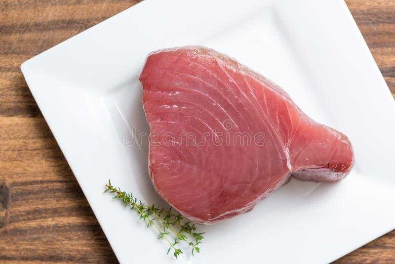 未加工内圆角的金枪鱼 免版税库存图片