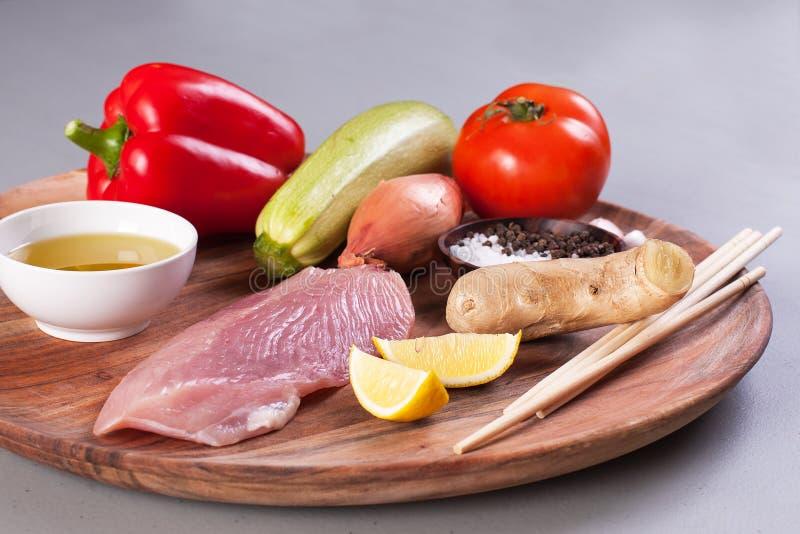 未加工的健康节食的产品 库存图片
