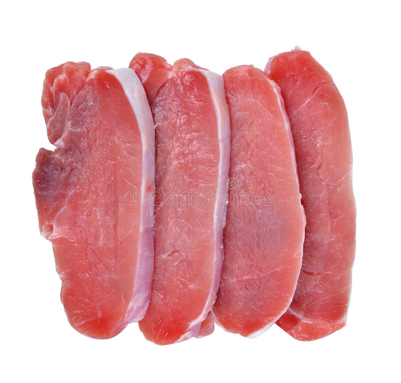 未加工的新鲜的肉猪排 库存图片