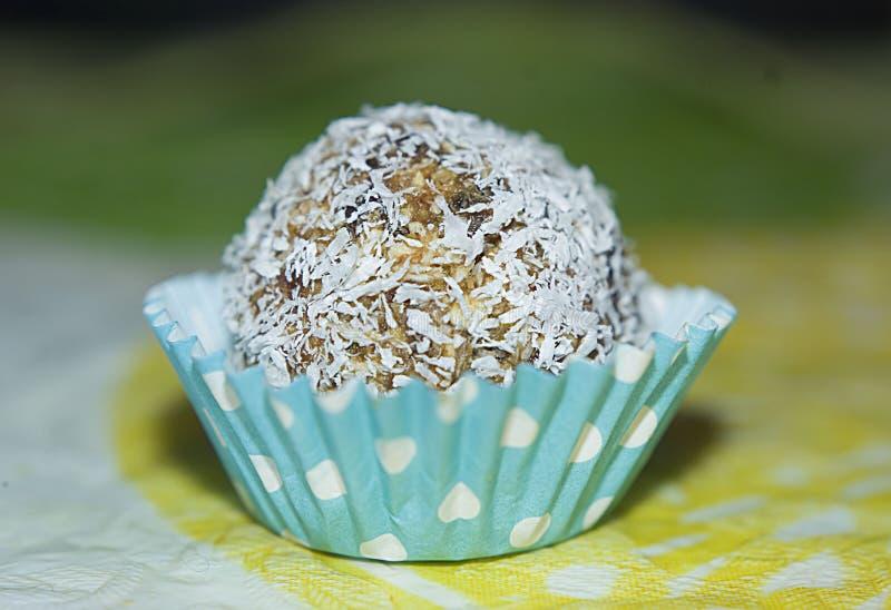 未加工的椰子糖果 免版税库存图片