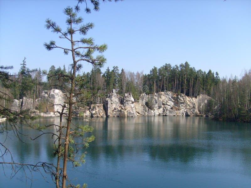 未加工的湖 库存图片