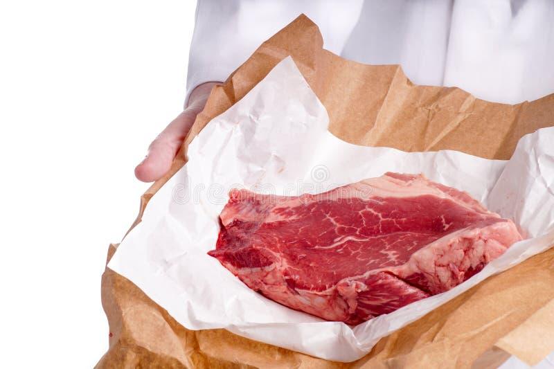 未加工的牛排肉 图库摄影