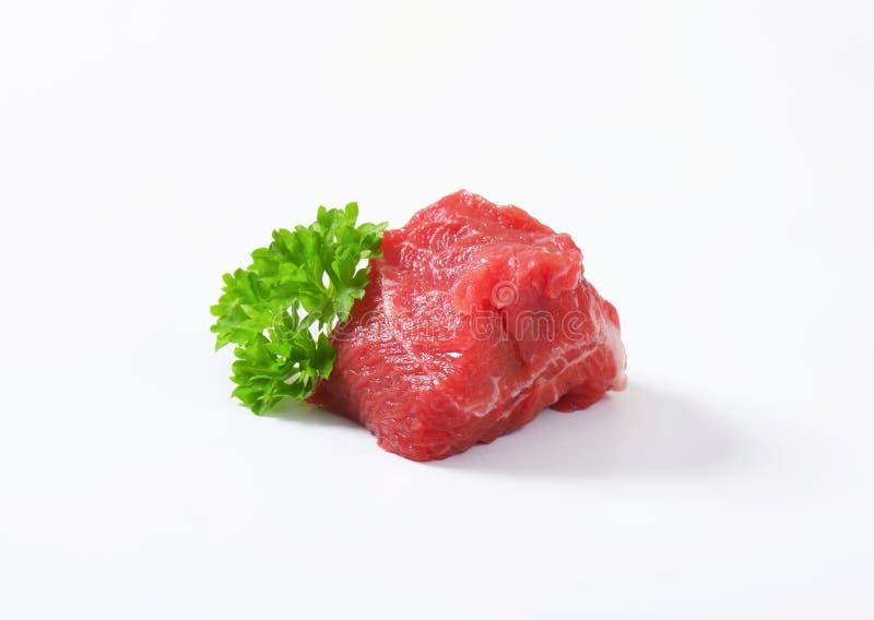未加工的牛肉肉大块 免版税库存图片