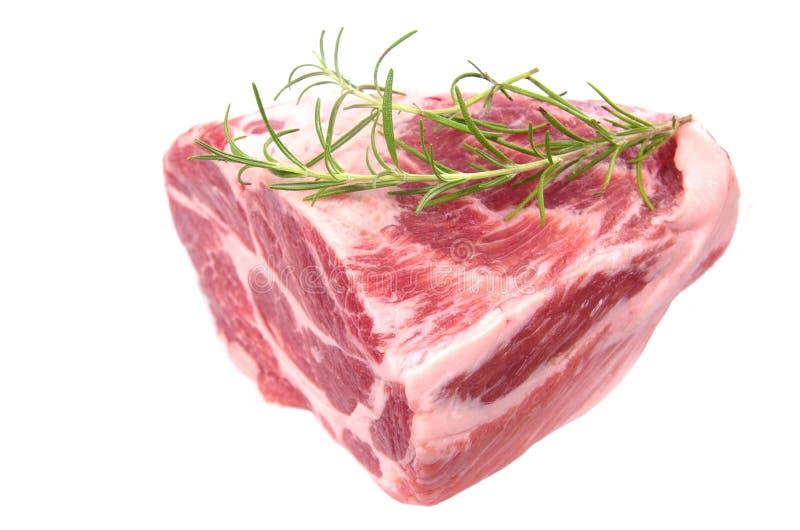 未加工的牛颈肉牛排 免版税库存图片