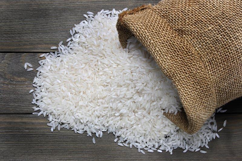 未加工的米 免版税库存照片