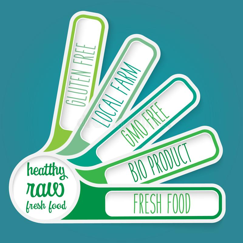 未加工的食物传染媒介题目  向量例证