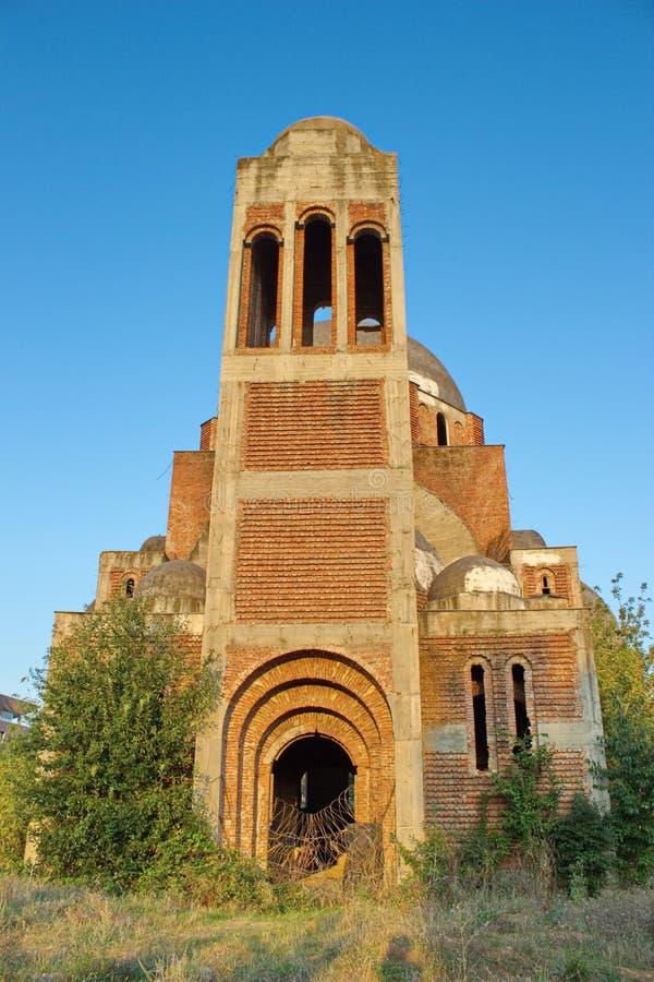 未完成的基督救主大教堂在普里什蒂纳,科索沃 免版税库存图片