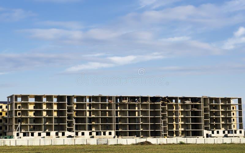 未完成的塑象具体大厦 库存照片