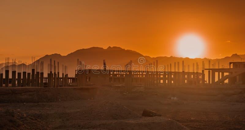 未完成的手段大厦,放弃在埃及 库存图片