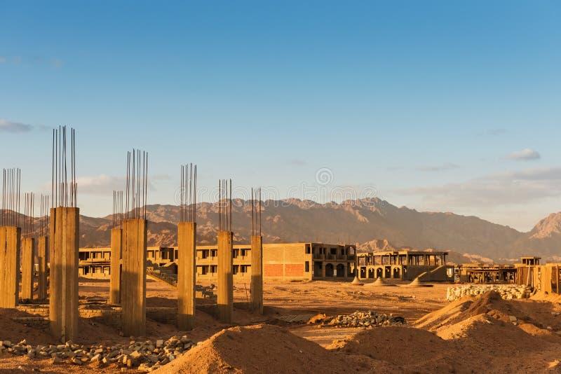 未完成的手段大厦,放弃在埃及 图库摄影
