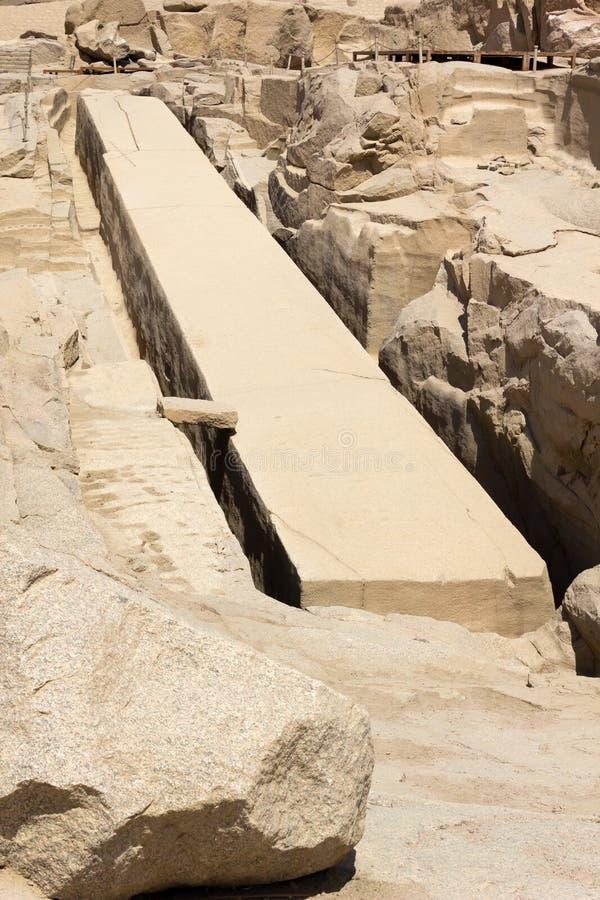未完成的方尖碑,阿斯旺,埃及 免版税库存照片