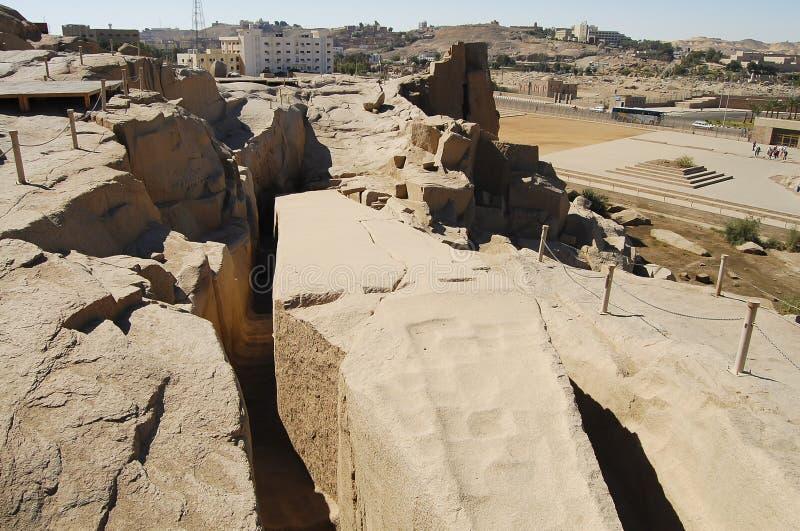 未完成的方尖碑-阿斯旺-埃及 免版税库存图片