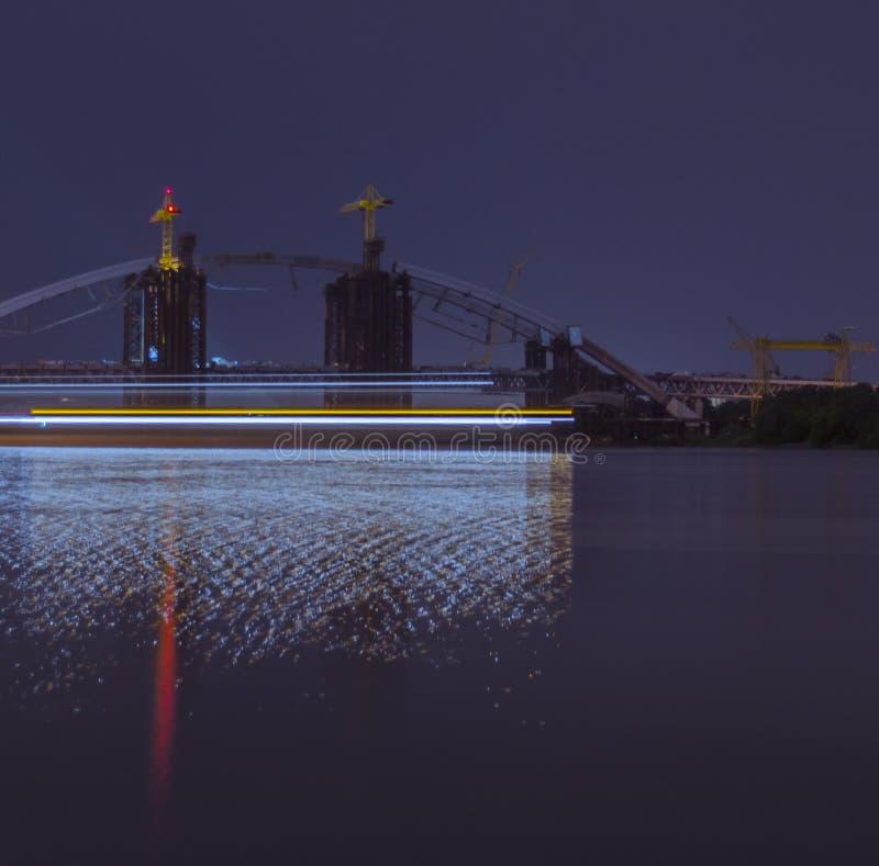 未完成的桥梁 免版税库存照片