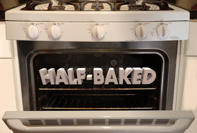 未完成的火炉烤箱疯狂的想法计划计划 库存例证