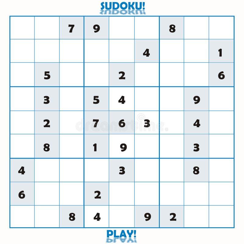 未完成难题sudoku 皇族释放例证