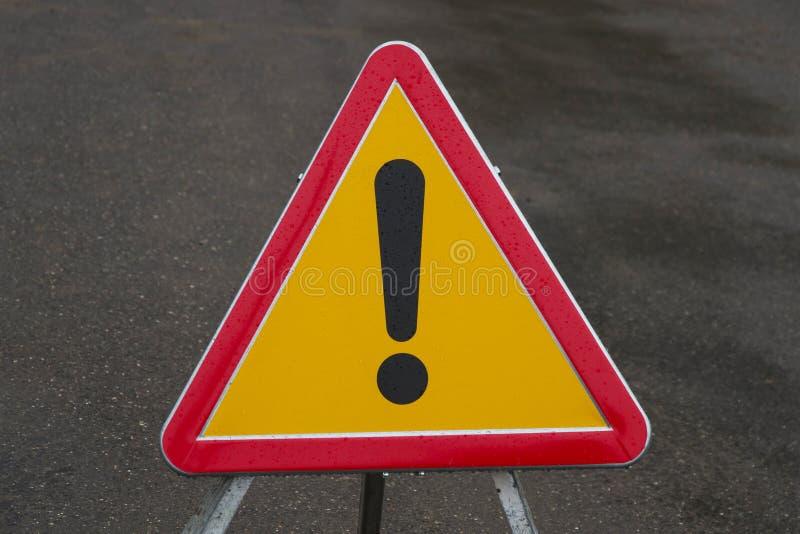 未定义的交通信号危险 免版税库存图片