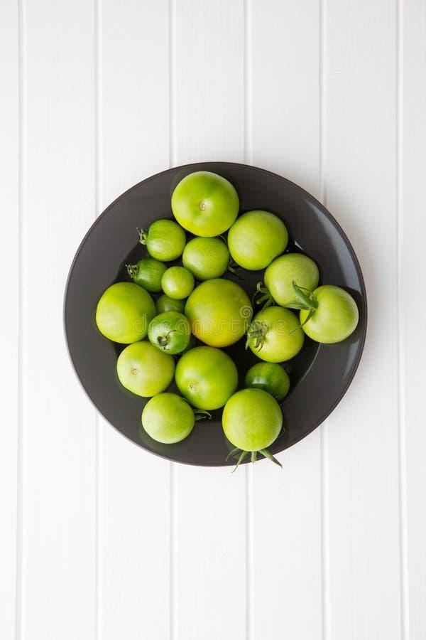 未成熟绿色的蕃茄 免版税库存照片