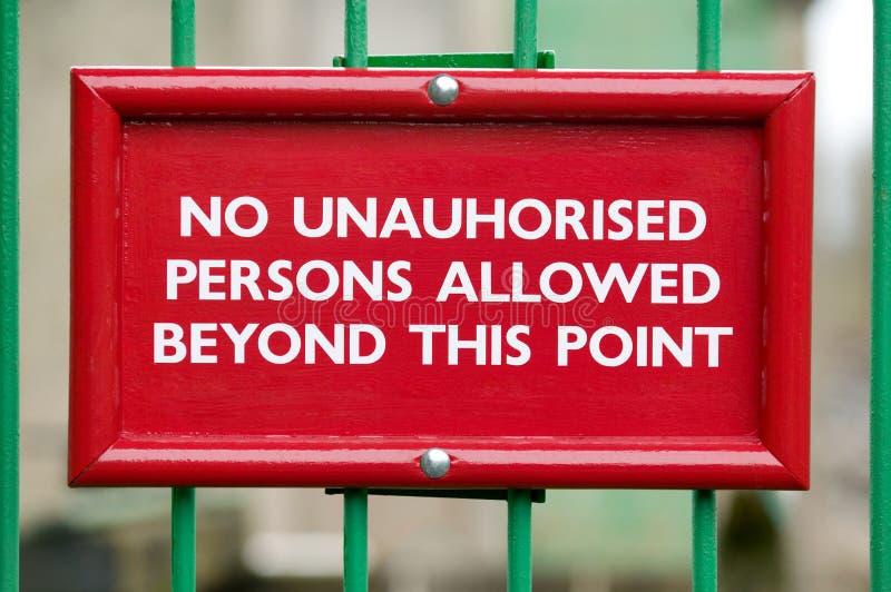 未授权没有的人员 免版税库存照片