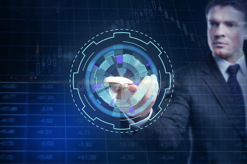 未来、通信和外汇概念 免版税库存照片