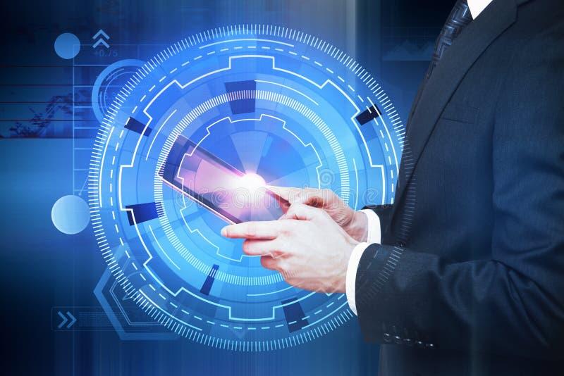 未来、通信和科学概念 免版税图库摄影