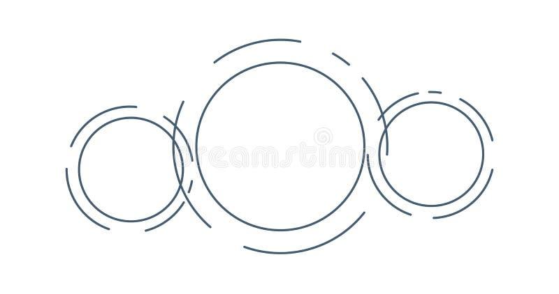 未来信息图形模板抽象圆 孤立矢量图 皇族释放例证