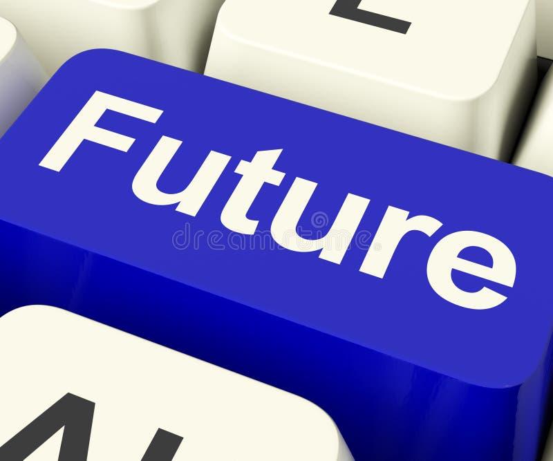 未来关键显示的预言预测或预言 免版税图库摄影