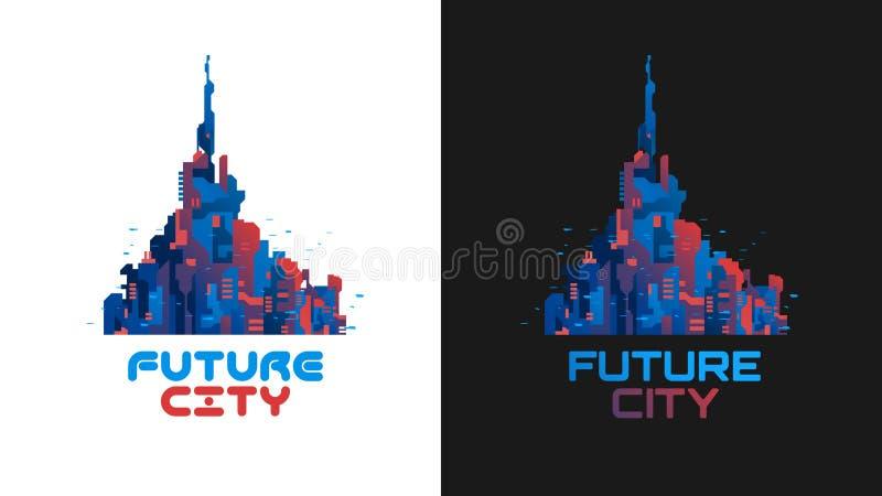 未来城市 向量例证