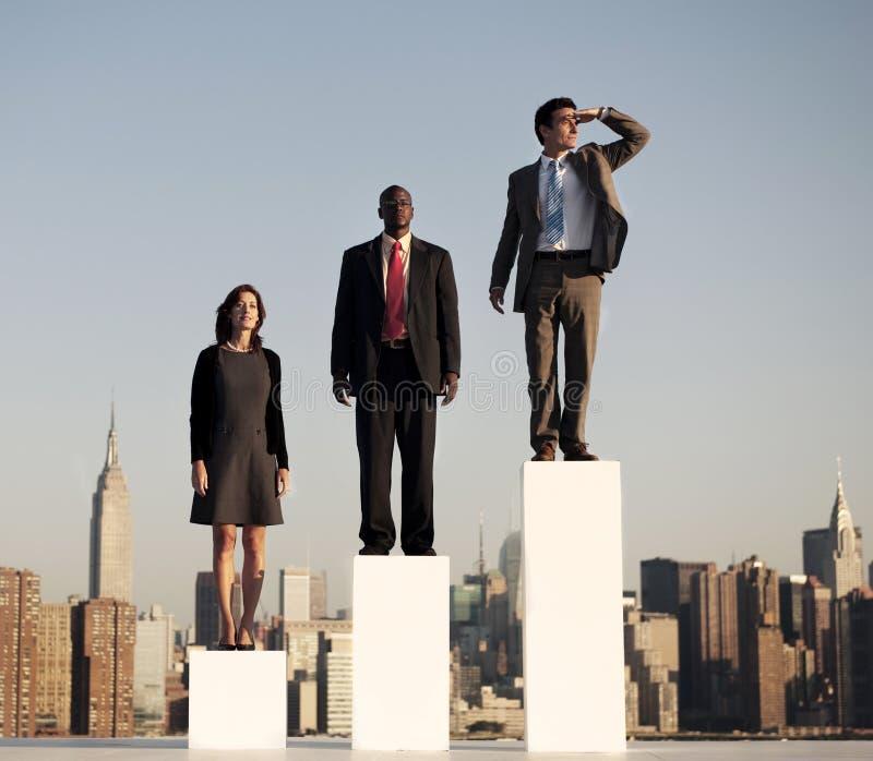 未来战略企业规划合作概念 库存照片