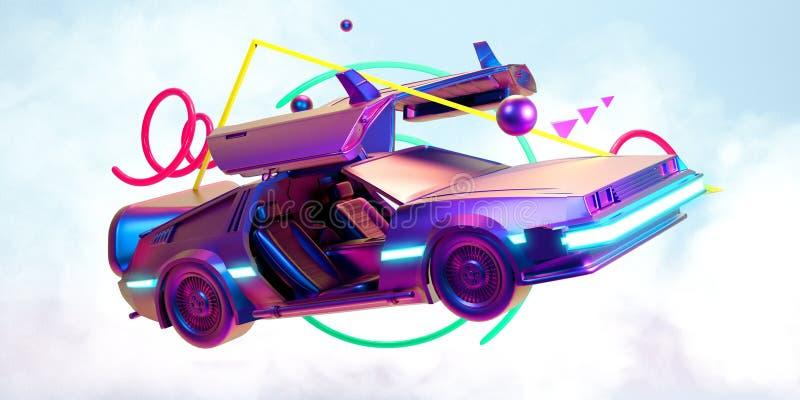 未来汽车,减速火箭第80 皇族释放例证