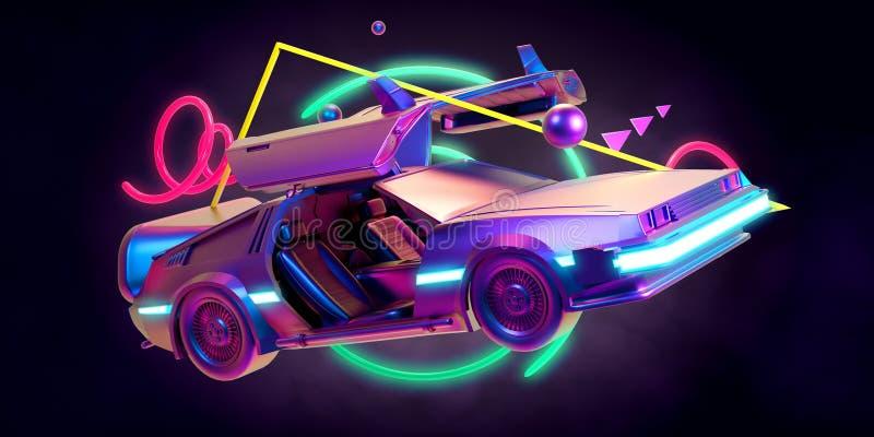 未来汽车,减速火箭第80 库存例证
