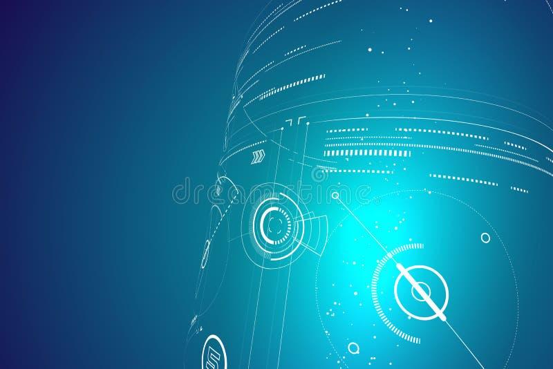 未来派三维接口,抽象图形设计 向量例证