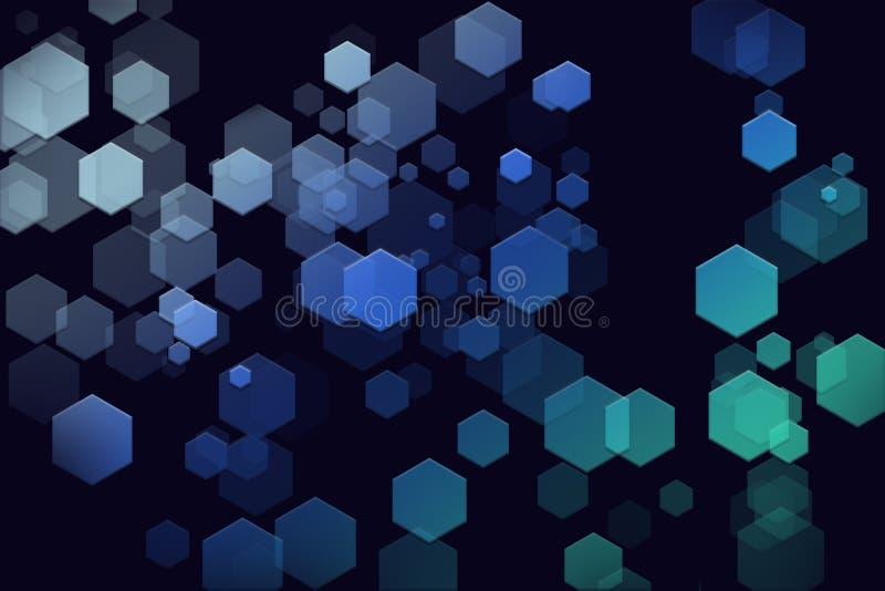 未来派六角形背景墙纸 皇族释放例证