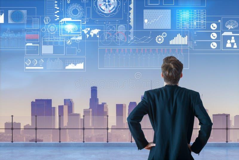 未来派创新和逻辑分析方法概念 免版税库存照片