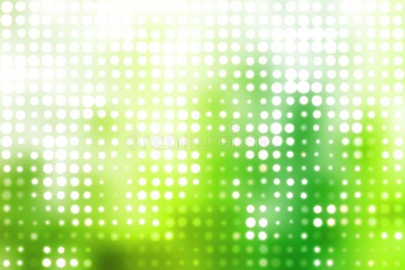未来派发光的绿灯白色 库存例证