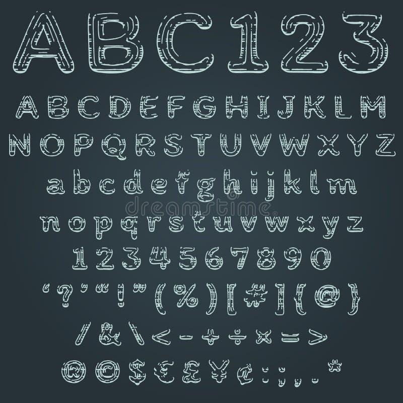 未来派小故障例证的全息图发光的字体 向量例证