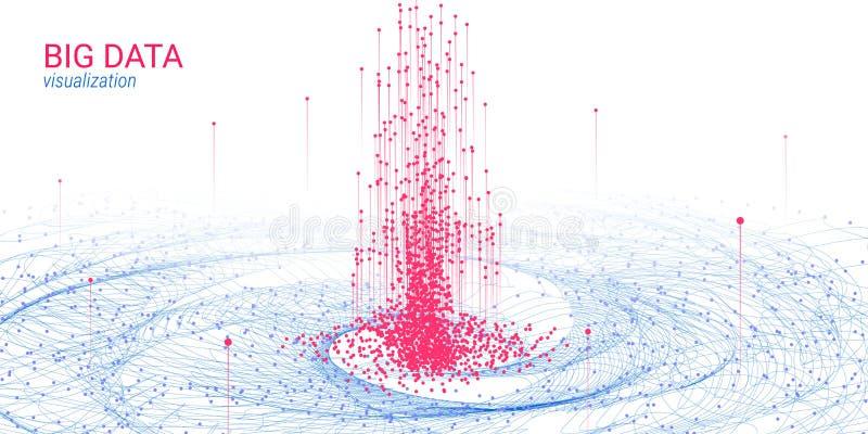 未来派抽象 大数据形象化 向量例证
