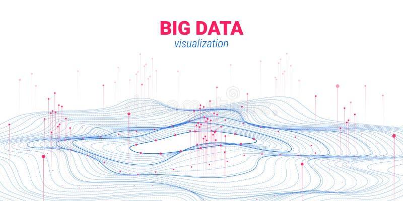 未来派抽象 大数据形象化 库存例证