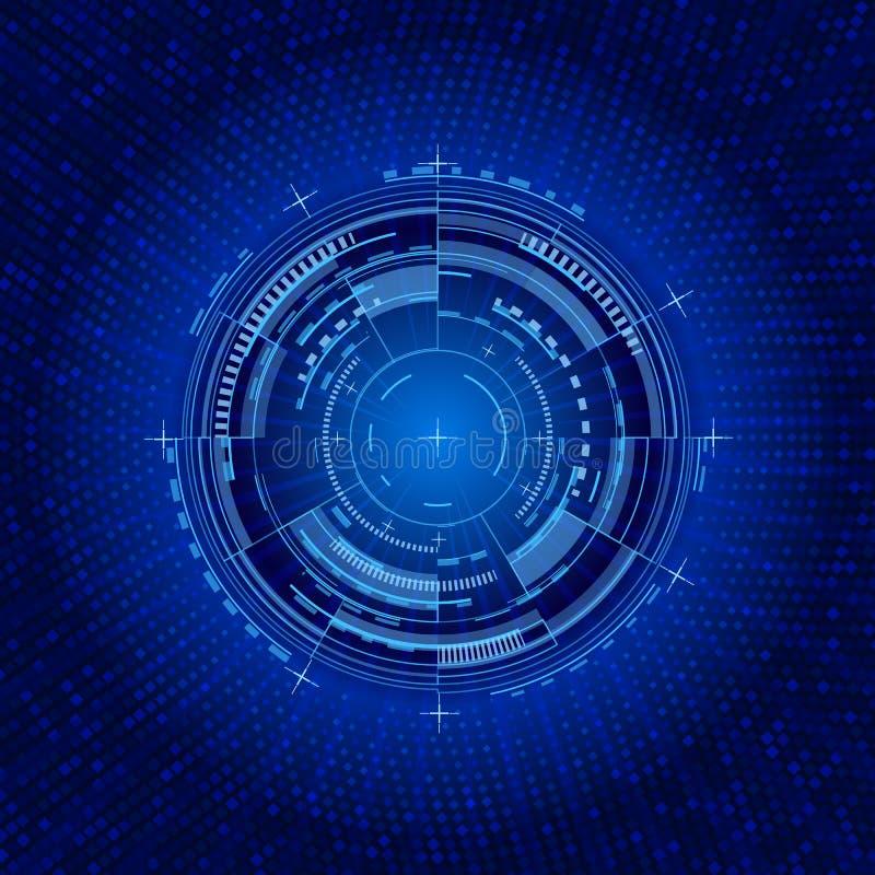未来派接口圈子 techno例证 向量例证